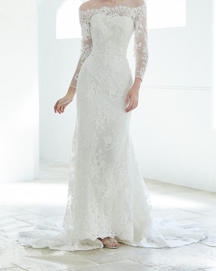 長崎の結婚式 袖ありドレス